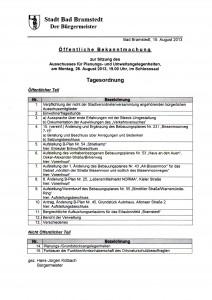 Einladung Planungsausschuss 26.8.13