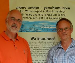 Der Vorstand der Haus an den Auen eG: Joachim Josenhans und Dirk Möhle (v.l.)